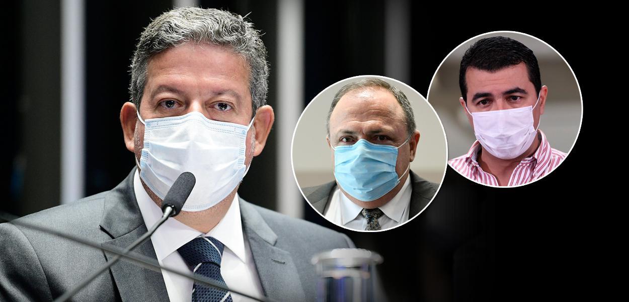 Arthur Lira, Eduardo Pazuello e Luis Miranda