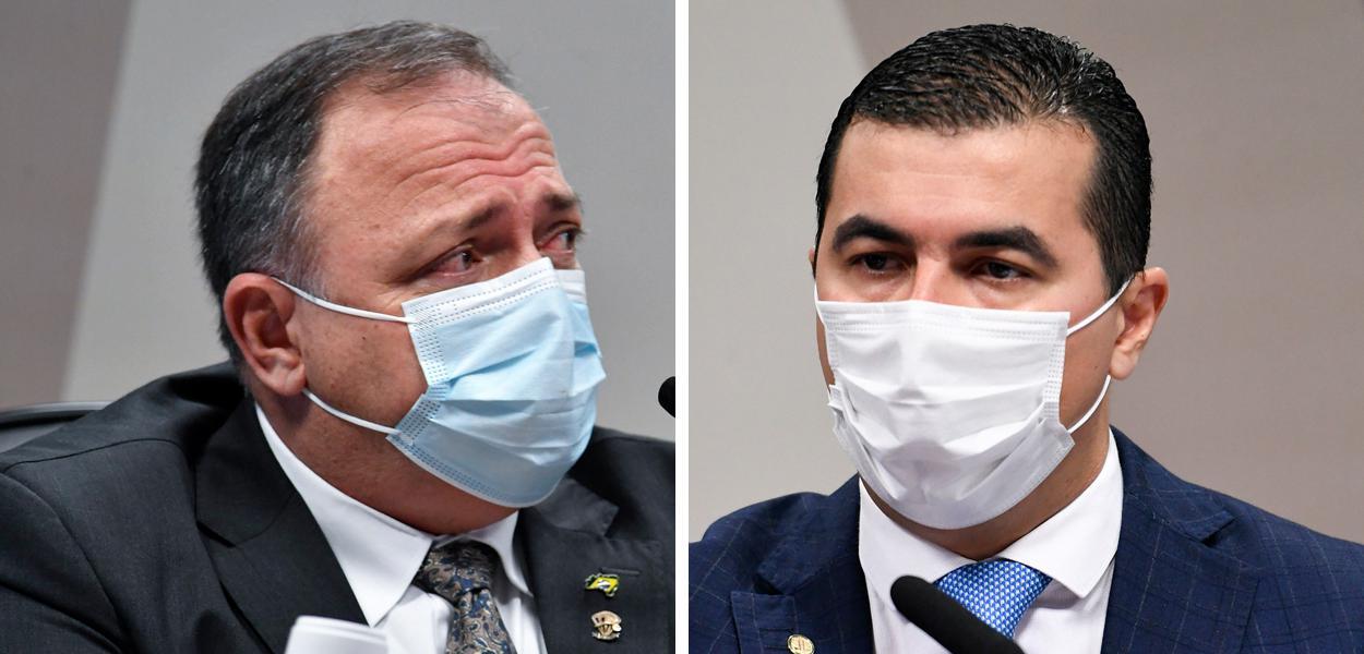 Eduardo Pazuello e Luis Miranda