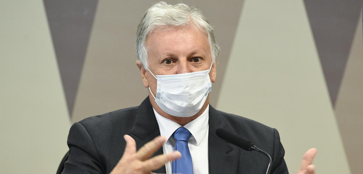Empresário Airton Soligo depõe à CPI da Covid