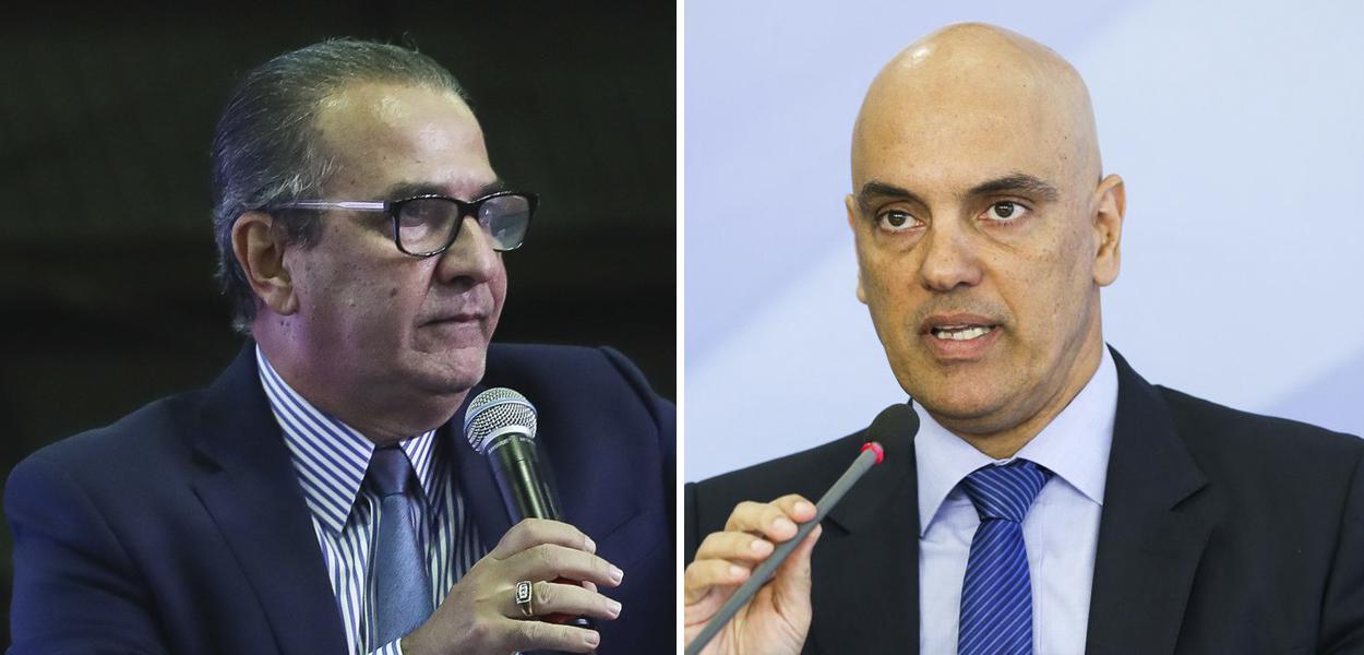 Silas Malafaia e o ministro do STF Alexandre de Moraes