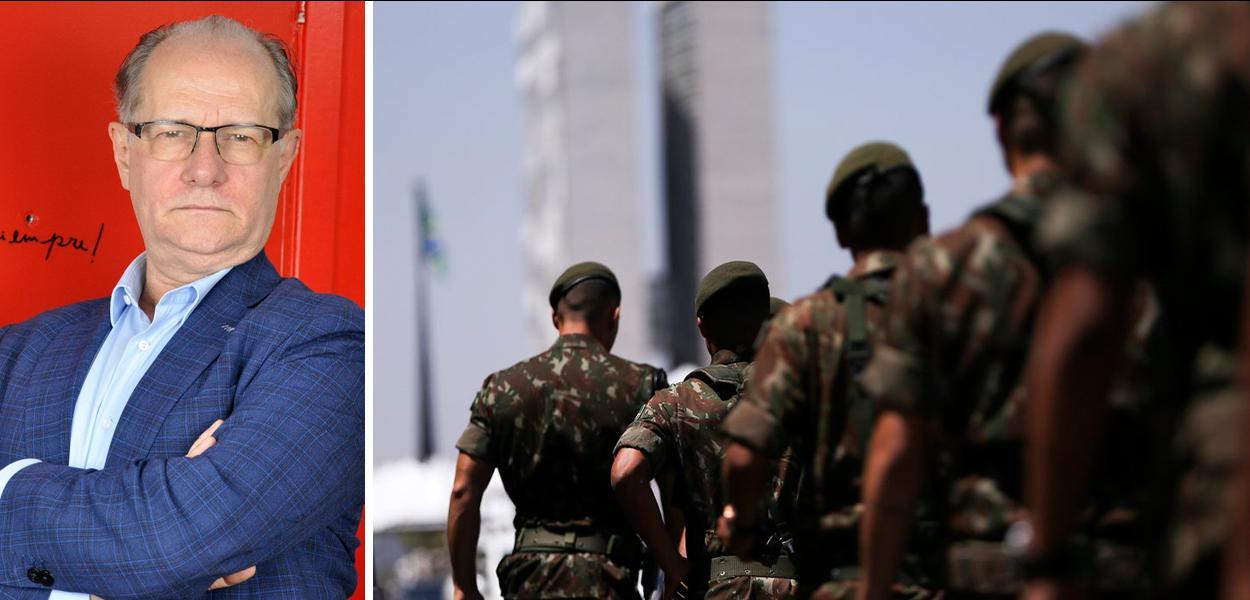 Mario Vitor Santos e militares