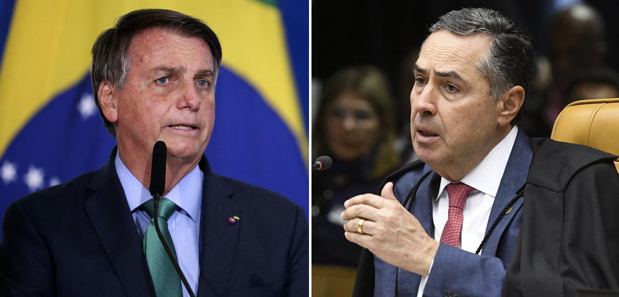 Jair Bolsonaro e Roberto Barroso
