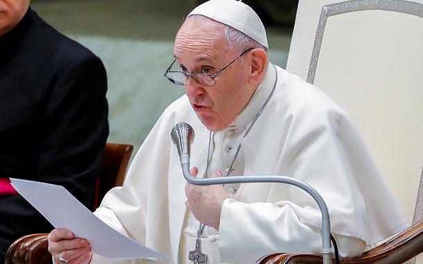 Papa Francisco em audiência no Vaticano