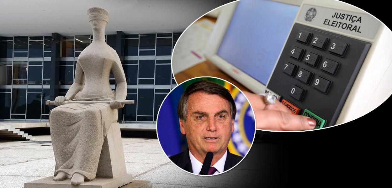 Jair Bolsonaro, Supremo Tribunal Federal e uma urna eletrônica