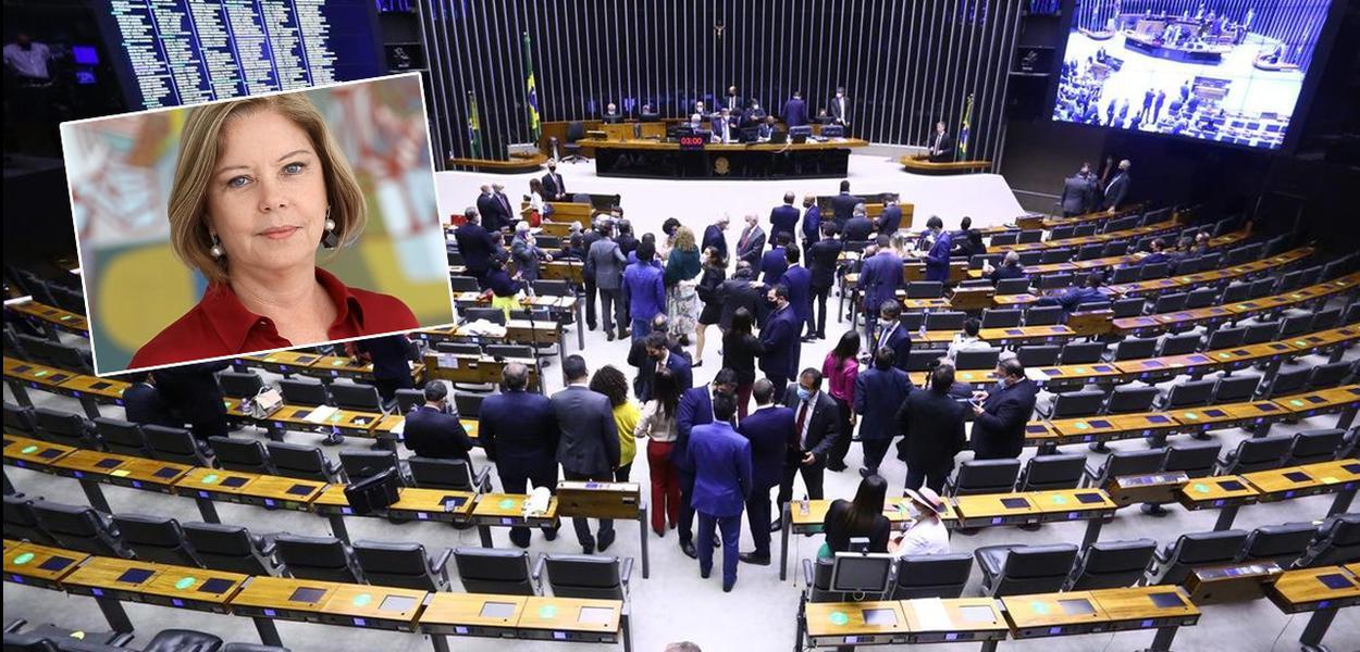 Jornalista Eliana Cantanhêde e a Câmara dos Deputados