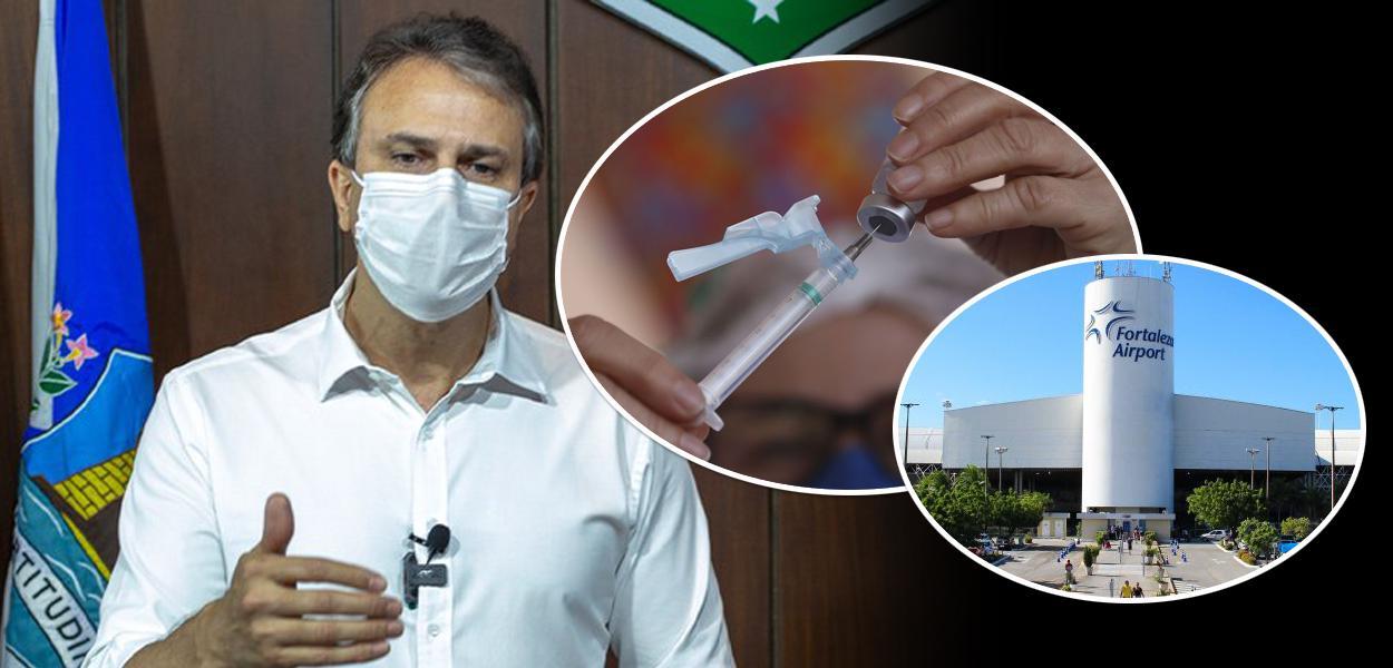 Camilo Santana, vacina e aeroporto de Fortaleza