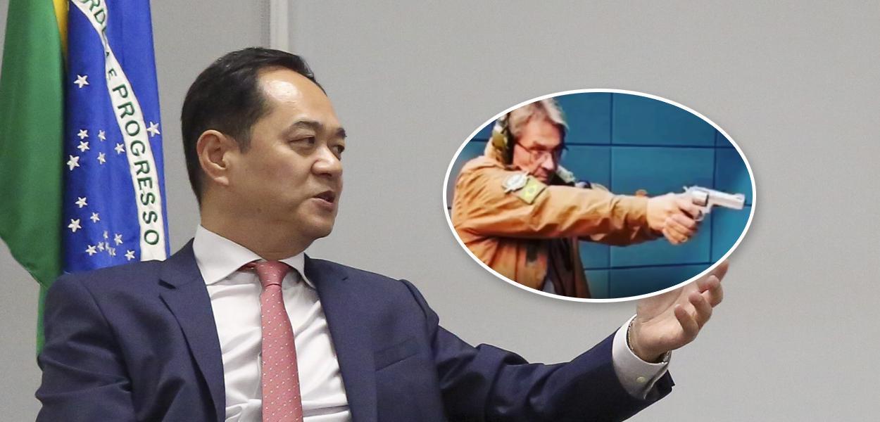 Embaixador da China no Brasil, Yang Wanming, e o presidente nacional do PTB, Roberto Jefferson