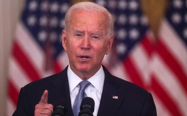 Presidente dos EUA, Joe Biden, faz pronunciamento na Casa Branca