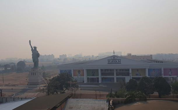 Fumaça de queimadas cobre Rondônia