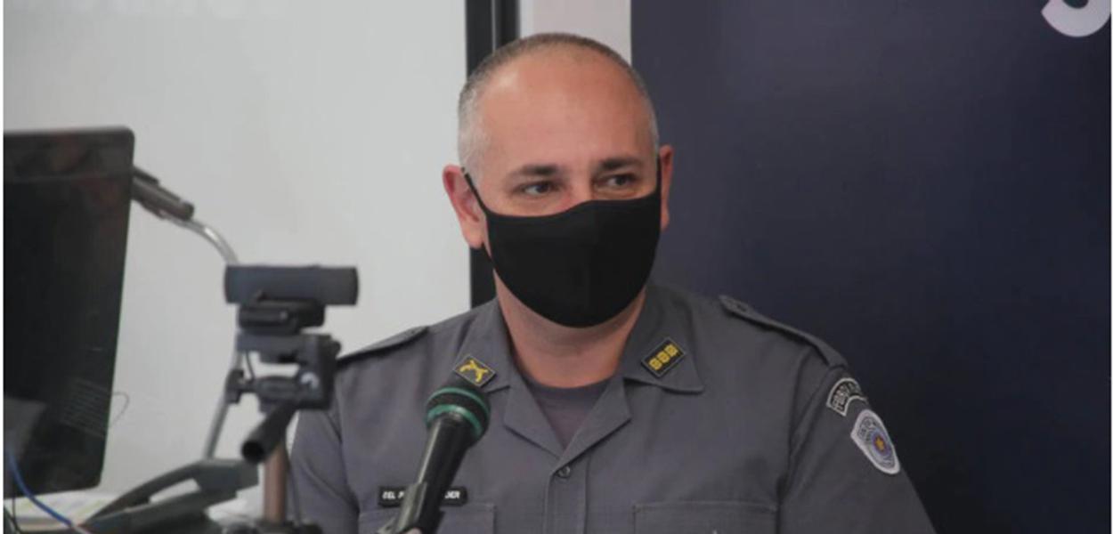 Chefe do Comando de Policiamento do Interior-7 (CPI-7), o coronel Aleksander Lacerda