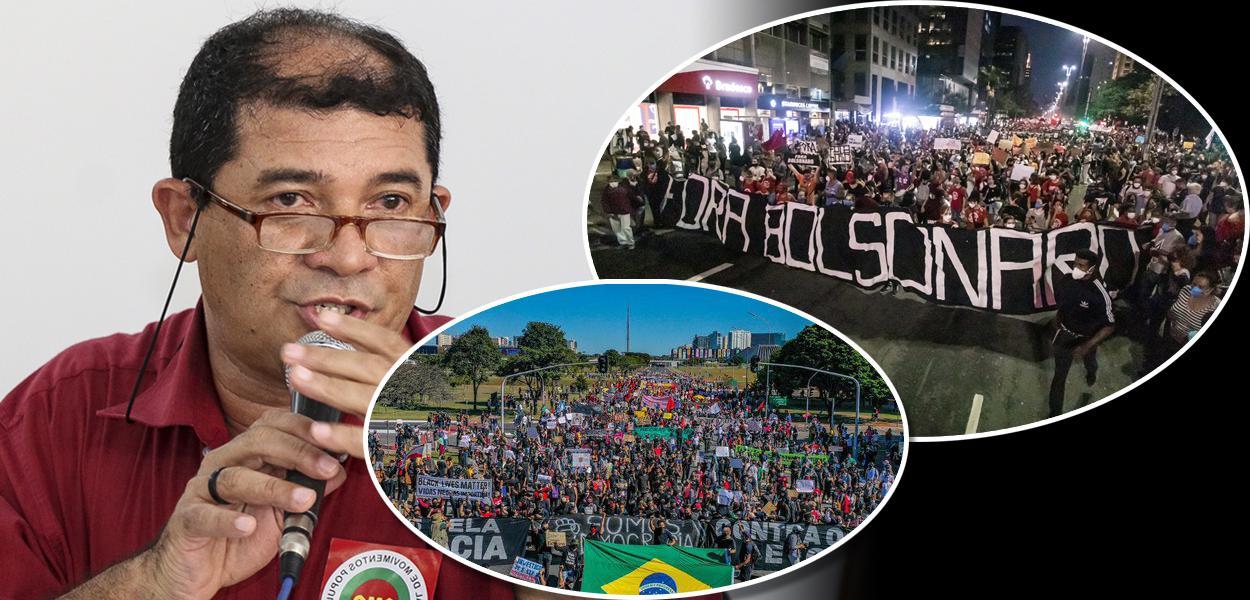 Presidente da CMP, Raimundo Bomfim, e atos contra Jair Bolsonaro tanto em Brasília como em São Paulo