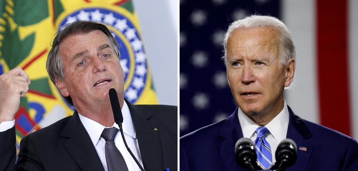 Jair Bolsonaro e Joe Biden