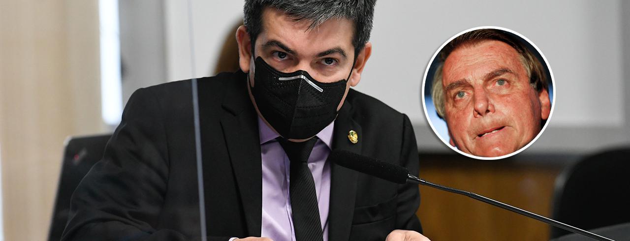 Randolfe Rodrigues e Jair Bolsonaro
