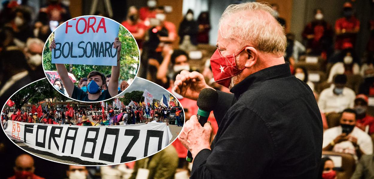 Manifestações contra Bolsonaro e Lula