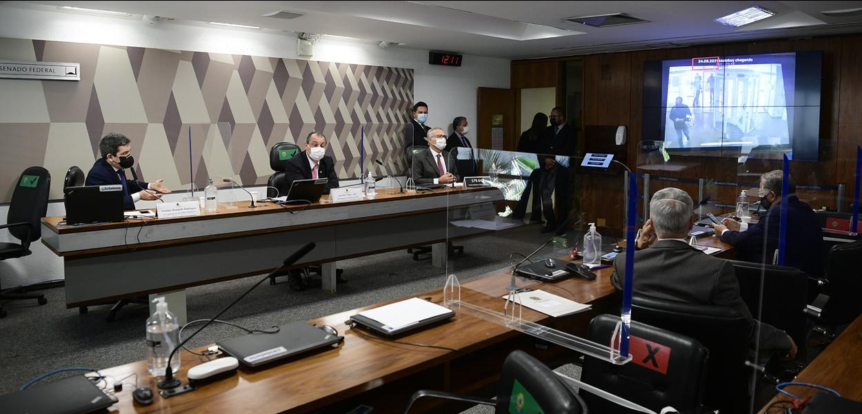 Sessão da CPI da Covid no Senado