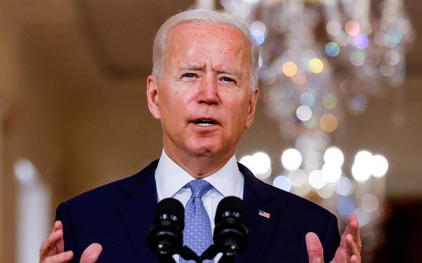 Presidente dos EUA, Joe Biden, na Casa Branca 31/08/2021 REUTERS/Carlos Barria