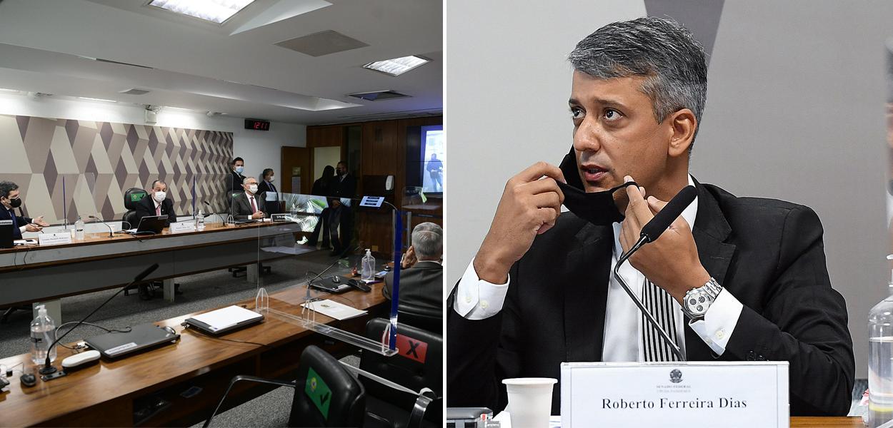 CPI e o ex-diretor da Logística do Ministério da Saúde Roberto Ferreira Dias