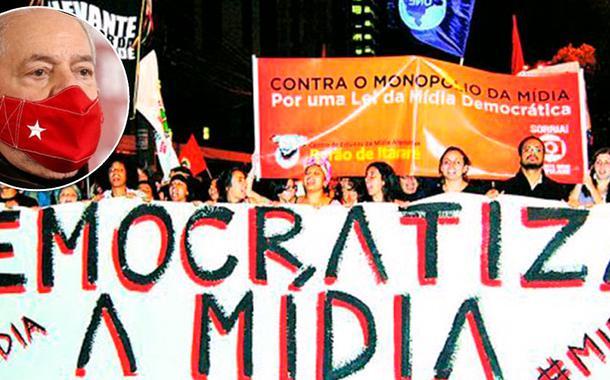 Ex-presidente Luiz Inácio Lula da Silva e um ato pela democratização da mídia