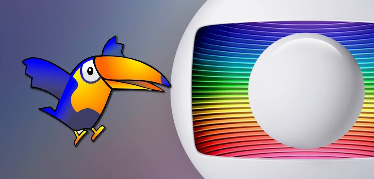 Logos do PSDB e da Globo