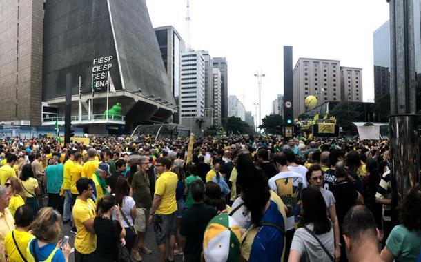 Ato bolsonarista na avenida Paulista