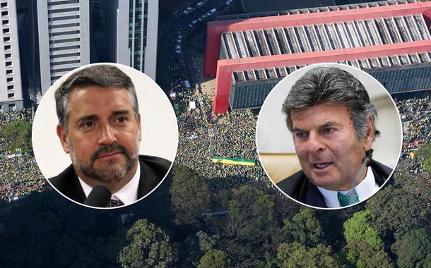 Deputado federal Paulo Pimenta, o presidente do STF, Luiz Fux, e mais ato contra Jair Bolsonaro