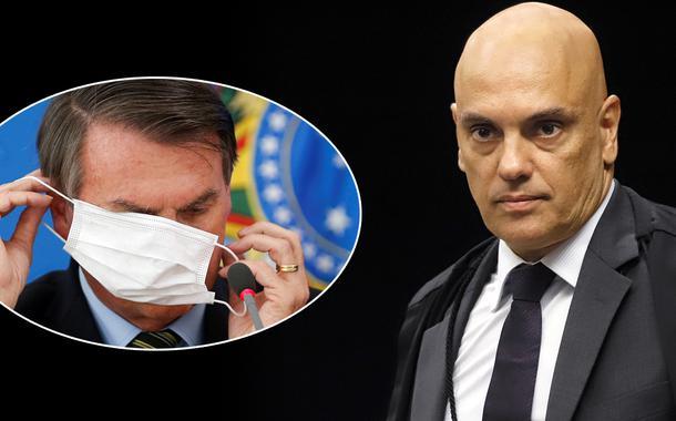 Jair Bolsonaro e Alexandre de Moraes