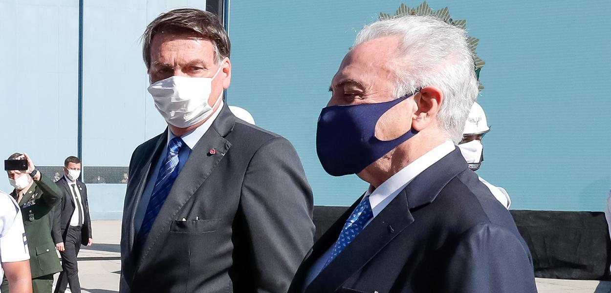 Bolsonaro e Michel Temer