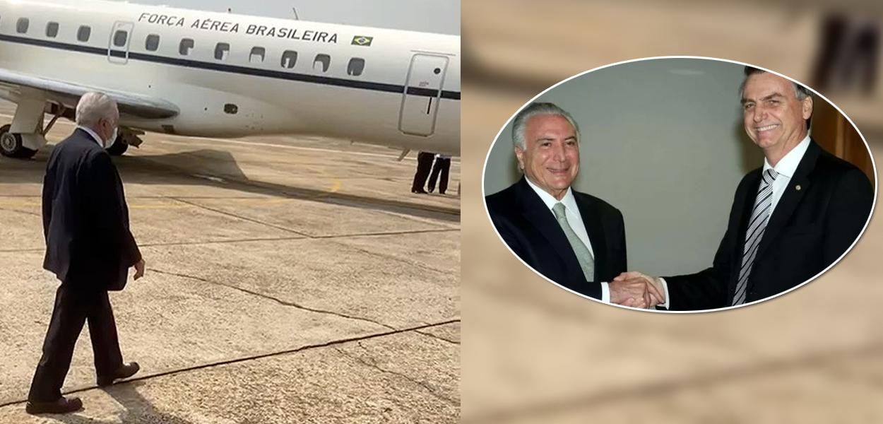 Temer embarcando para Brasília para encontro com Bolsonaro