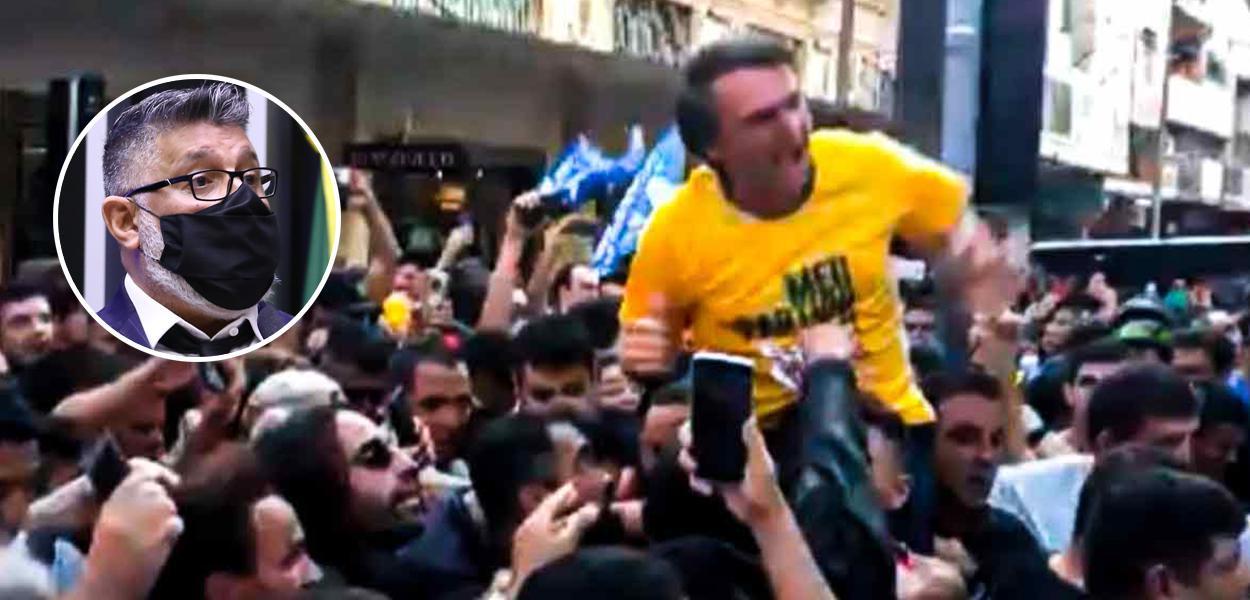 Alexandre Frota e momento da facada em Bolsonaro