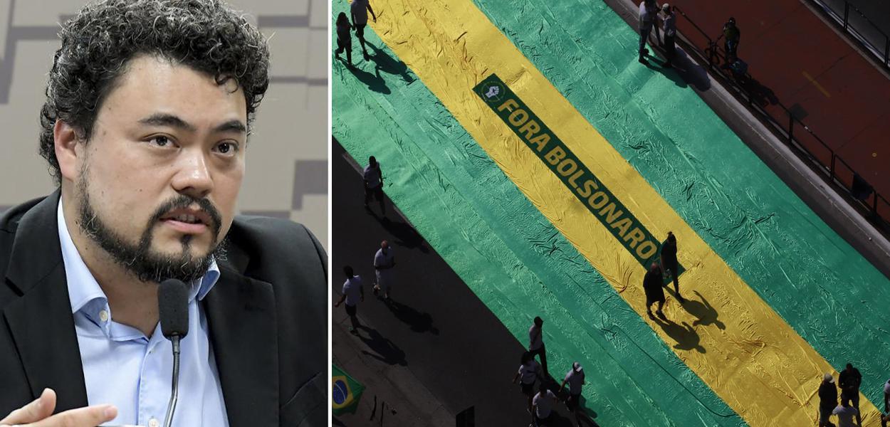 Leonardo Sakamoto e manifestação do MBL