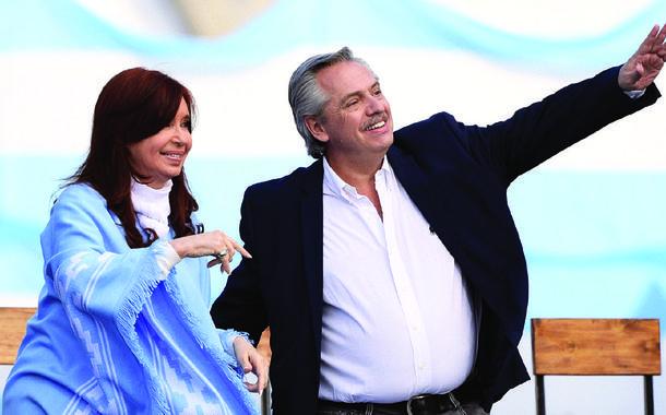 Presidente da Argentina, Alberto Fernandez, e sua vice, Cristina Kirchner