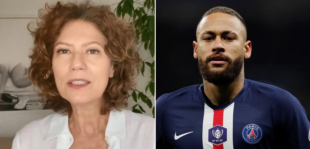 Patricia Pillar e Neymar