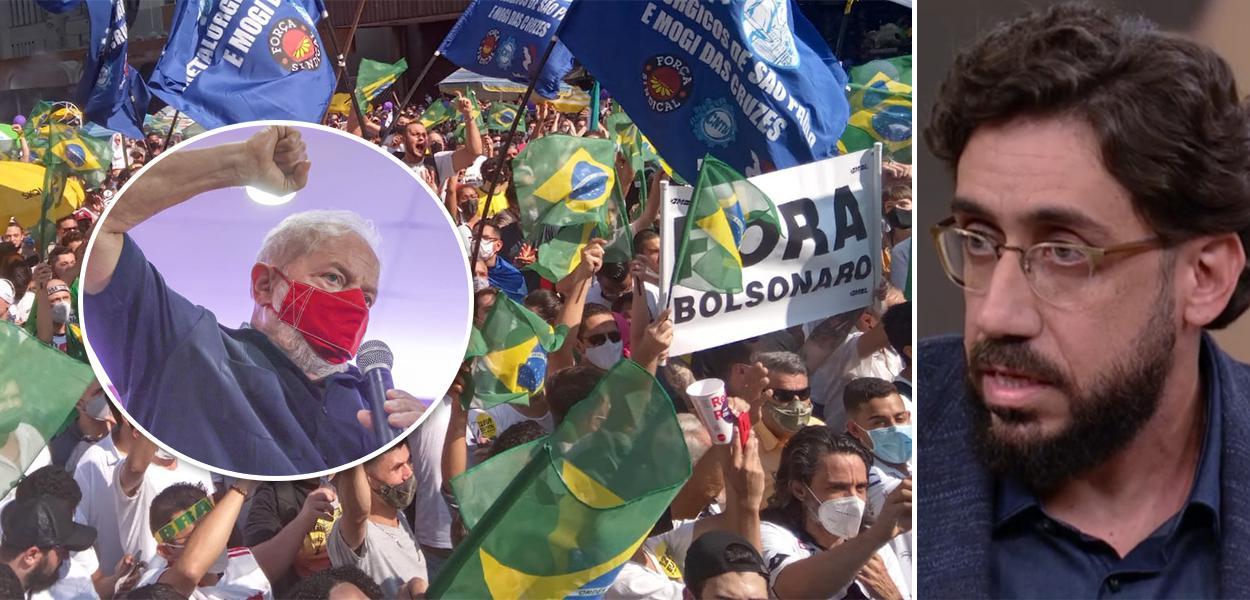 Lula, manifestção do MBL e Matheus Leitão