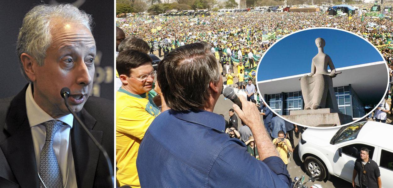 Pérsio Arida, Bolsonaro na manifestação de 7 de setembro e fachada do STF