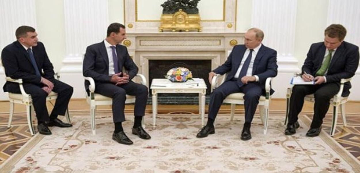 Os presidentes da Síria e da Rússia se reúnem em Moscou