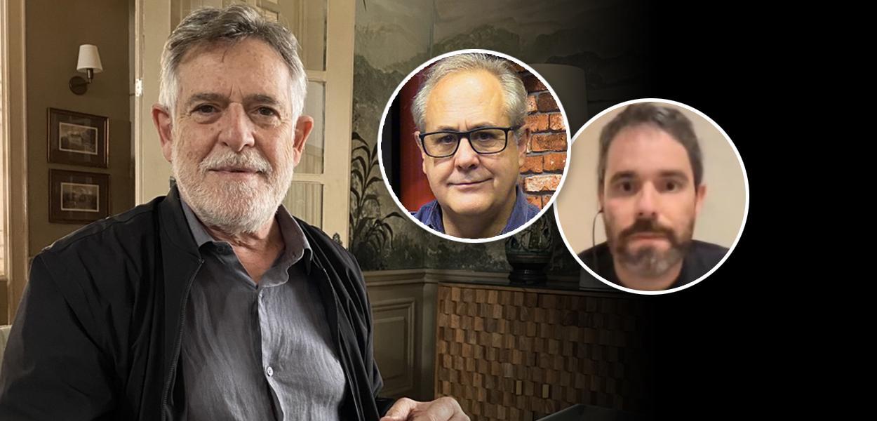 José de Abreu, Joaquim de Carvalho e Rafael Moro Martins