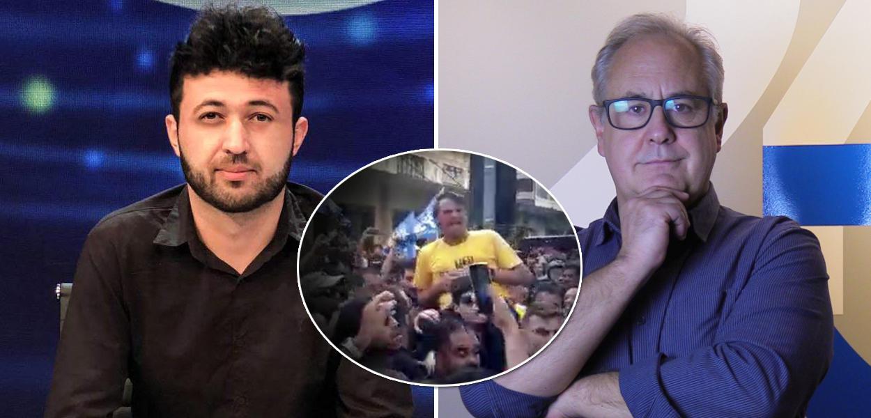 Sam Pancher, Bolsonaro levando facada e Joaquim de Carvalho