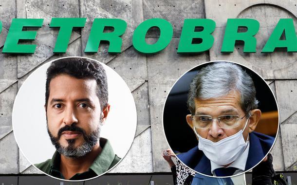 Coordenador da FUP, Deyvid Bacelar, e o presidente da Petrobrás, Joaquim Luna e Silva