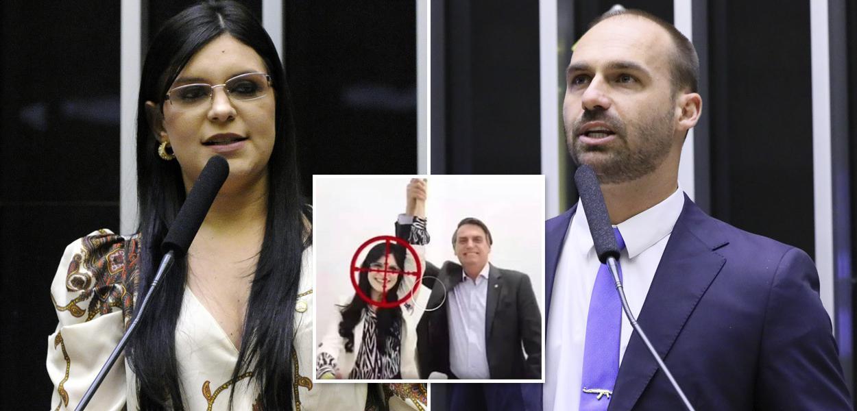 Deputada federal Dayane Pimentel e o deputado Eduardo Bolsonaro