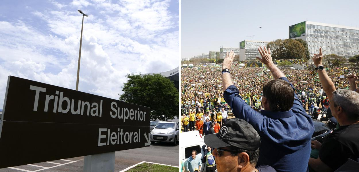Tribunal Superior Eleitoral e um ato bolsonarista a favor de um golpe