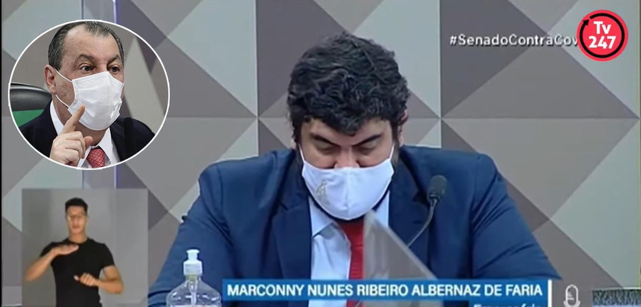 Senador Omar Aziz e o advogado Marconny Albernaz Ribeiro