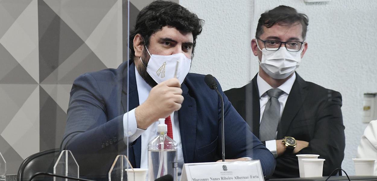 Marconny Albernaz Ribeiro em depoimento à CPI da Covid