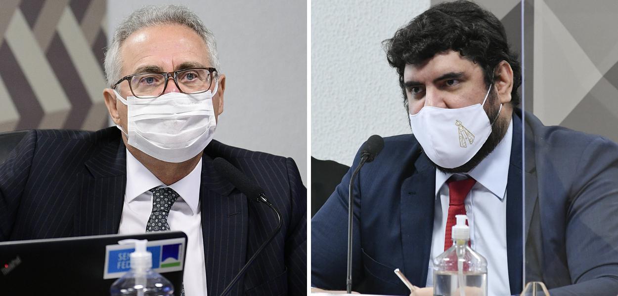 Senador Renan Calheiros e o advogado Marconny