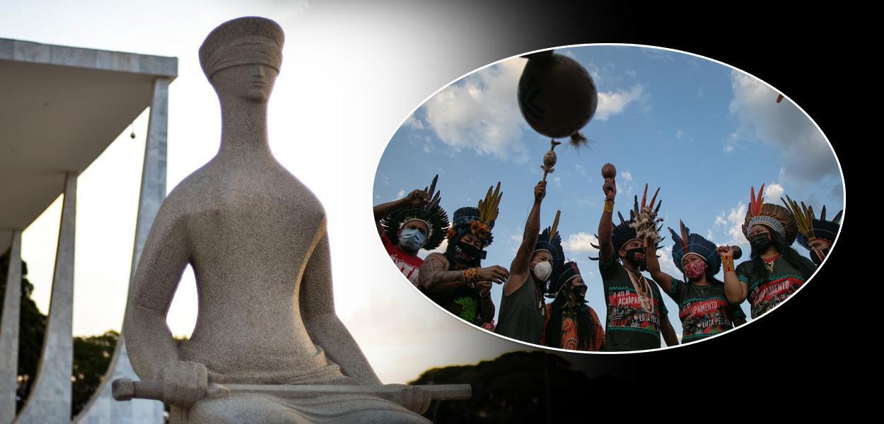 STF e um protesto indígena em Brasília contra o marco temporal