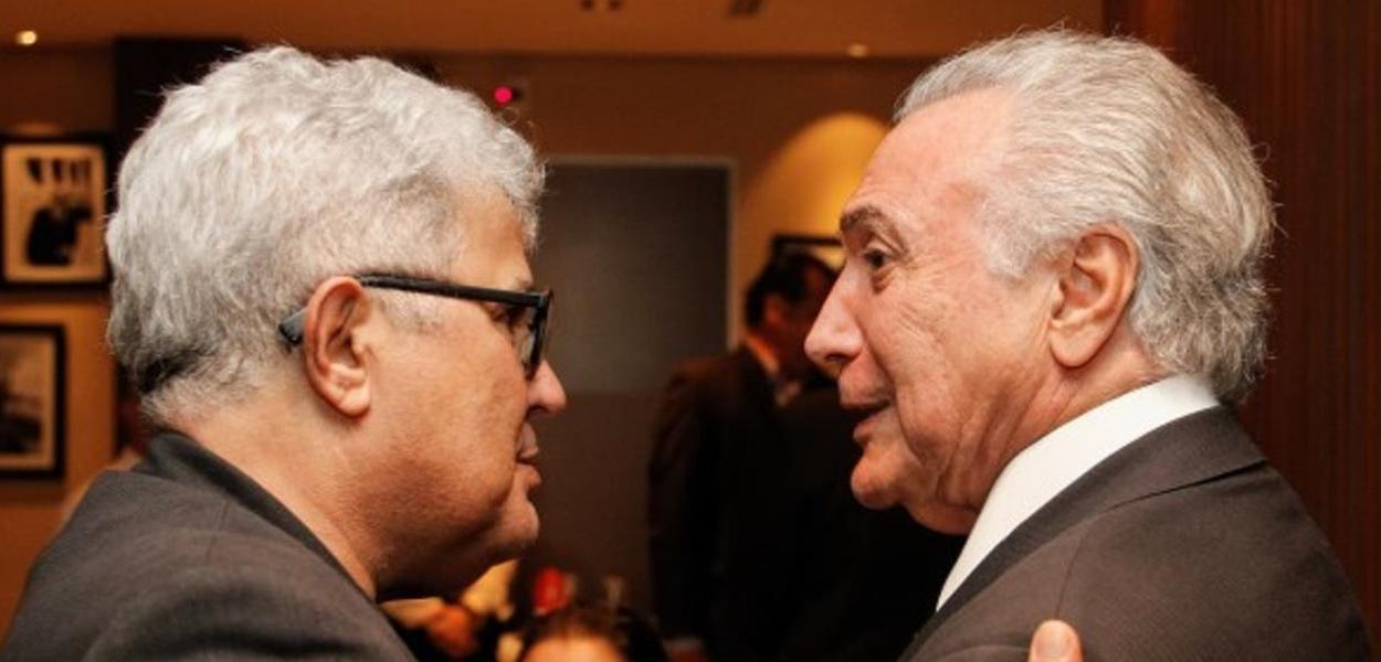 Ricardo Noblat e Michel Temer