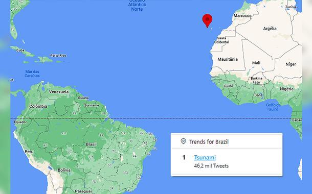 Localização do vulcão Cumbre Vieja