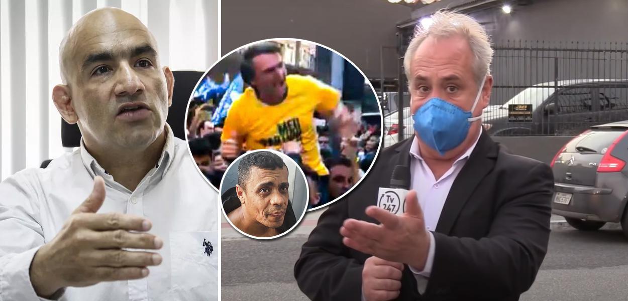 Jurista Luis Carlos Valois, Jair Bolsonaro, Adélio Bispo e o jornalista Joaquim de Carvalho