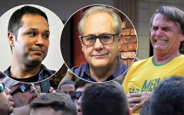 Leonardo Stoppa, Joaquim de Carvalho e Jair Bolsonaro