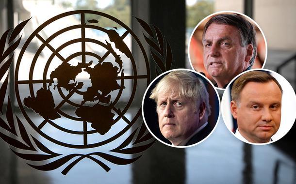 ONU, Jair Bolsonaro, primeiro-ministro do Reino Unido, Boris Johnson, e o presidente da Polônia, Andrzej Duda