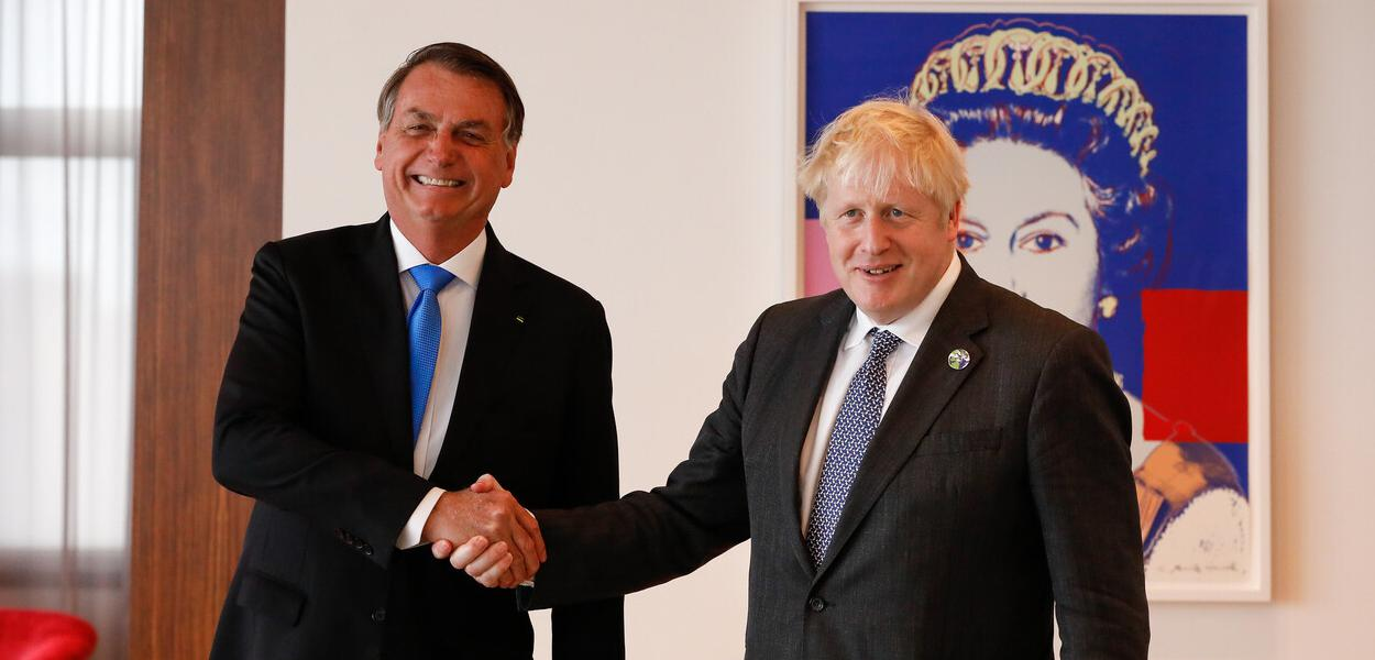 Jair Bolsonaro e Boris Johnson